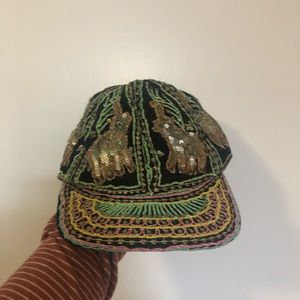 Sequins embroidered hat from urban outfitters